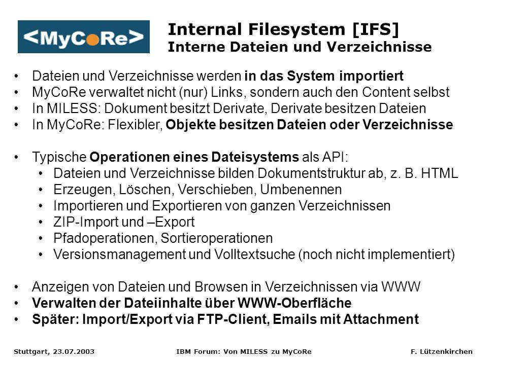 Internal Filesystem [IFS] Interne Dateien und Verzeichnisse